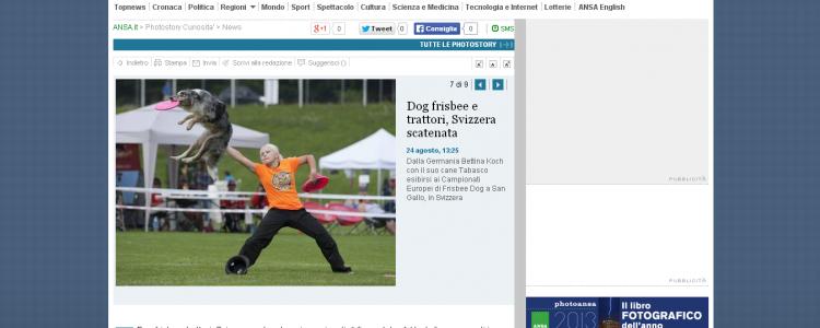 Tabasco + Bettina Koch European Championships 2013 St.Gallen, Switzerland USDDN